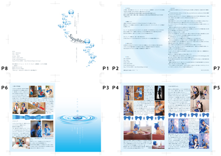 C85コミケ・コスホリ新刊・美少女戦士セーラームーン、水野亜美・セーラーマーキュリーコスプレROM・封入冊子